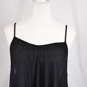 Elan Dresses - Elan Adjustable Thin Strap Black Maxi Dress (M57A)